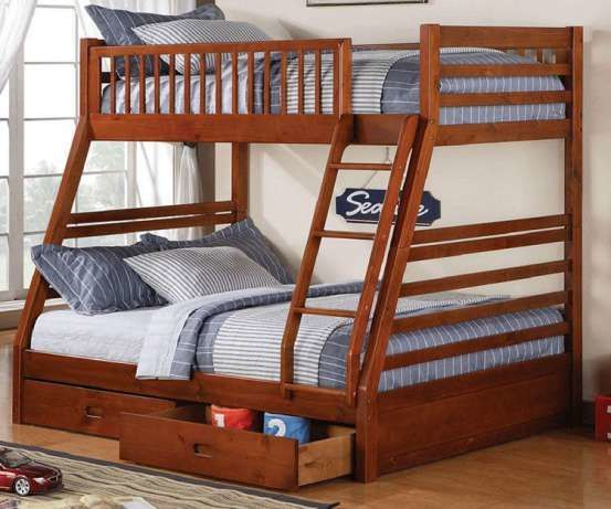 """Акция! Двухярусная трехспальная кровать семейного типа """"Юлия"""""""