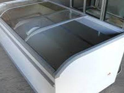 Купить морозильные лари с гнутым стеклом бу AHT Athen 900 л, 1000 л