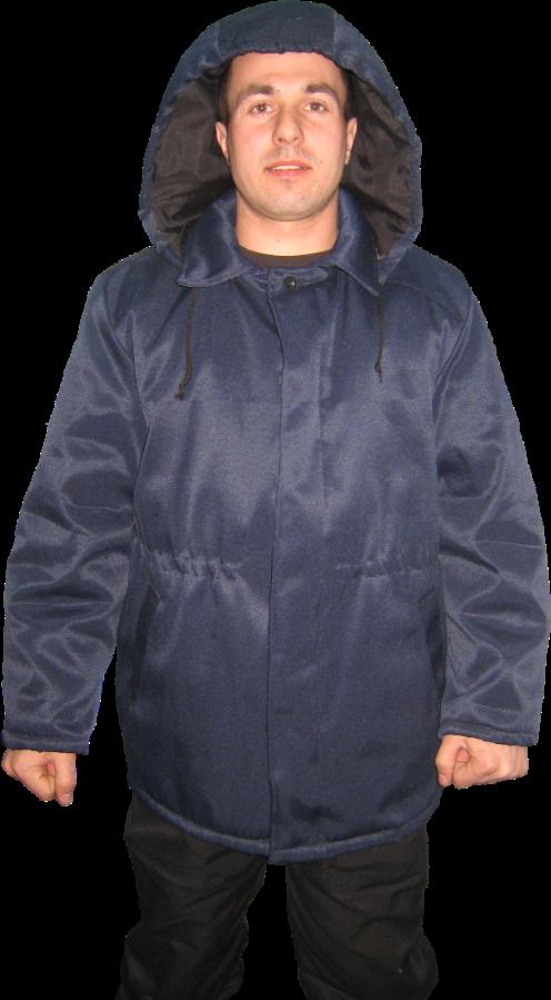 Куртка ватная с капюшоном. Рабочая зимняя, мужская курточка