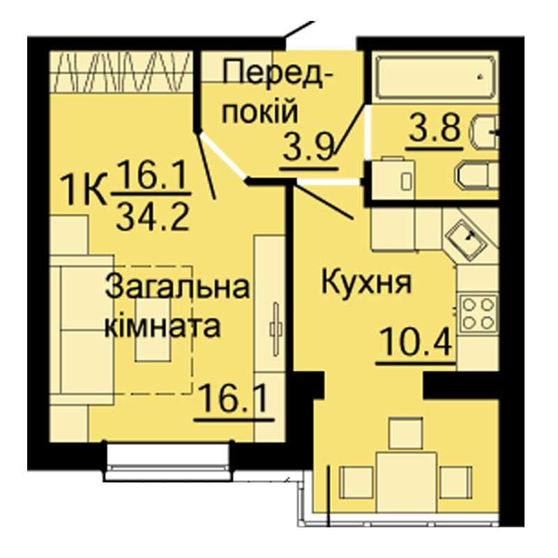 1к квартира в Киеве Л Маеток, Небесна сотня