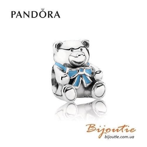 Оригинал PANDORA шарм  мишка BOY 791124EN41