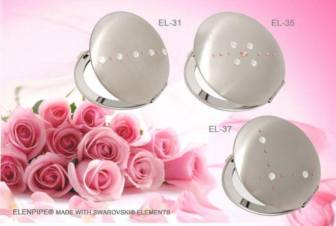 Зеркальца косметические EL-30 – EL-37 с кристаллами Swarovski 2