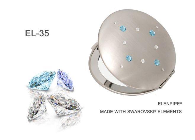 Зеркальца косметические EL-30 – EL-37 с кристаллами Swarovski 9