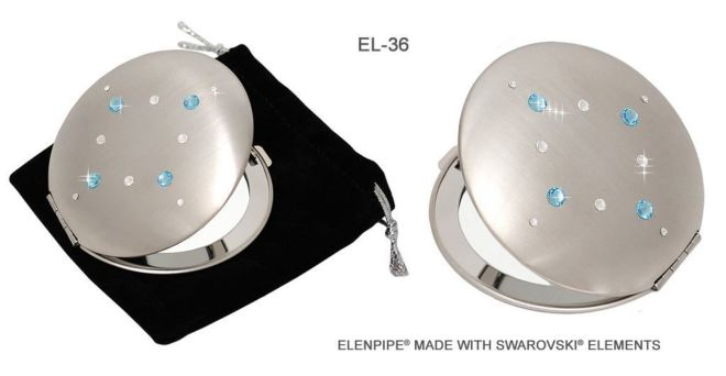 Зеркальца косметические EL-30 – EL-37 с кристаллами Swarovski 8