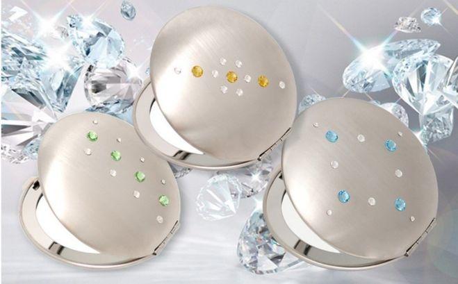 Зеркальца косметические EL-30 – EL-37 с кристаллами Swarovski