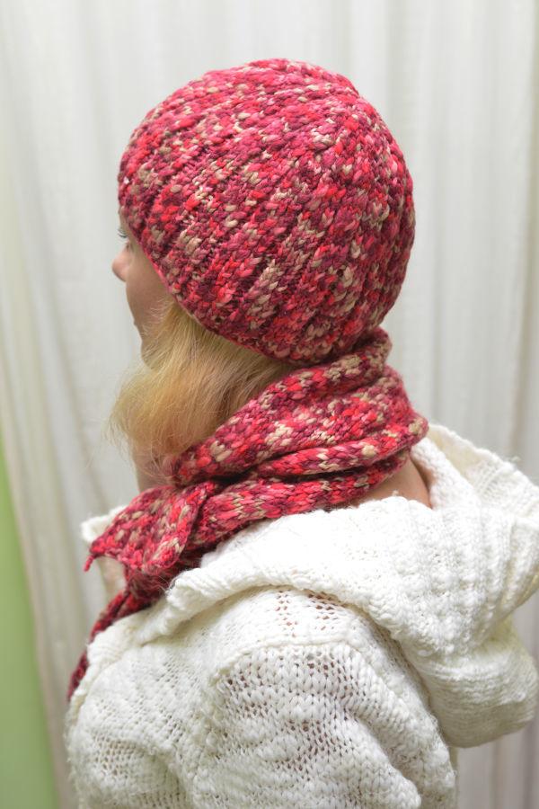 Фото - Красивый шерстяной набор, шапка с шарфом.