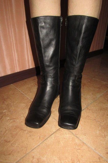 Фото 3 - Сапоги кожаные