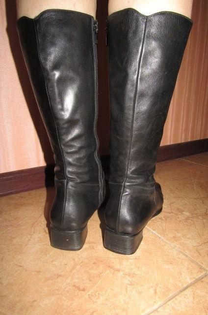 Фото 5 - Сапоги кожаные