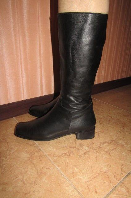 Фото 4 - Сапоги кожаные