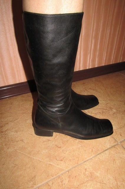 Фото 2 - Сапоги кожаные