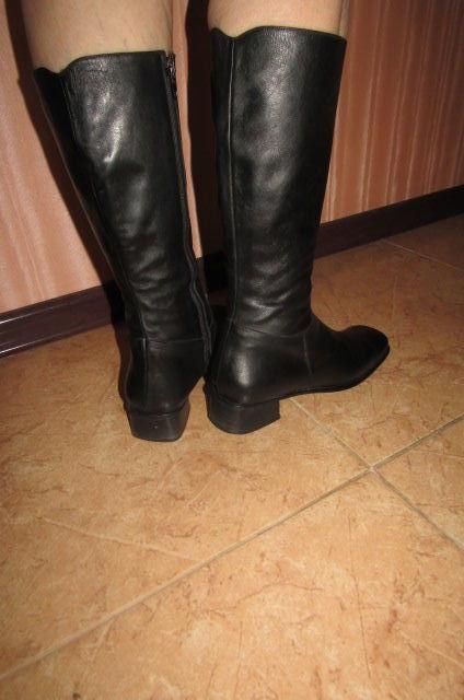 Фото 6 - Сапоги кожаные