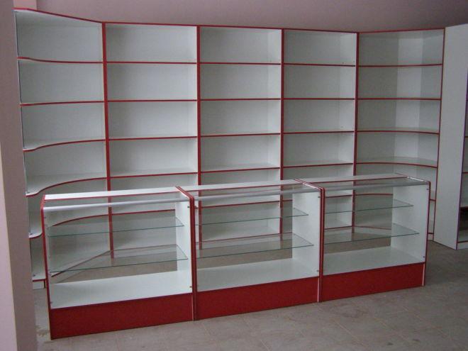 Стеллажи, витрины, прилавки, горки, торговое оборудование