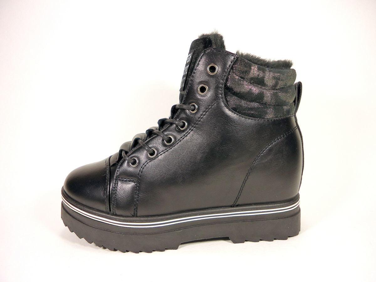e2d90f1e2 Женские зимние ботинки на толстой подошве и скрытой танкетке.: 375 ...