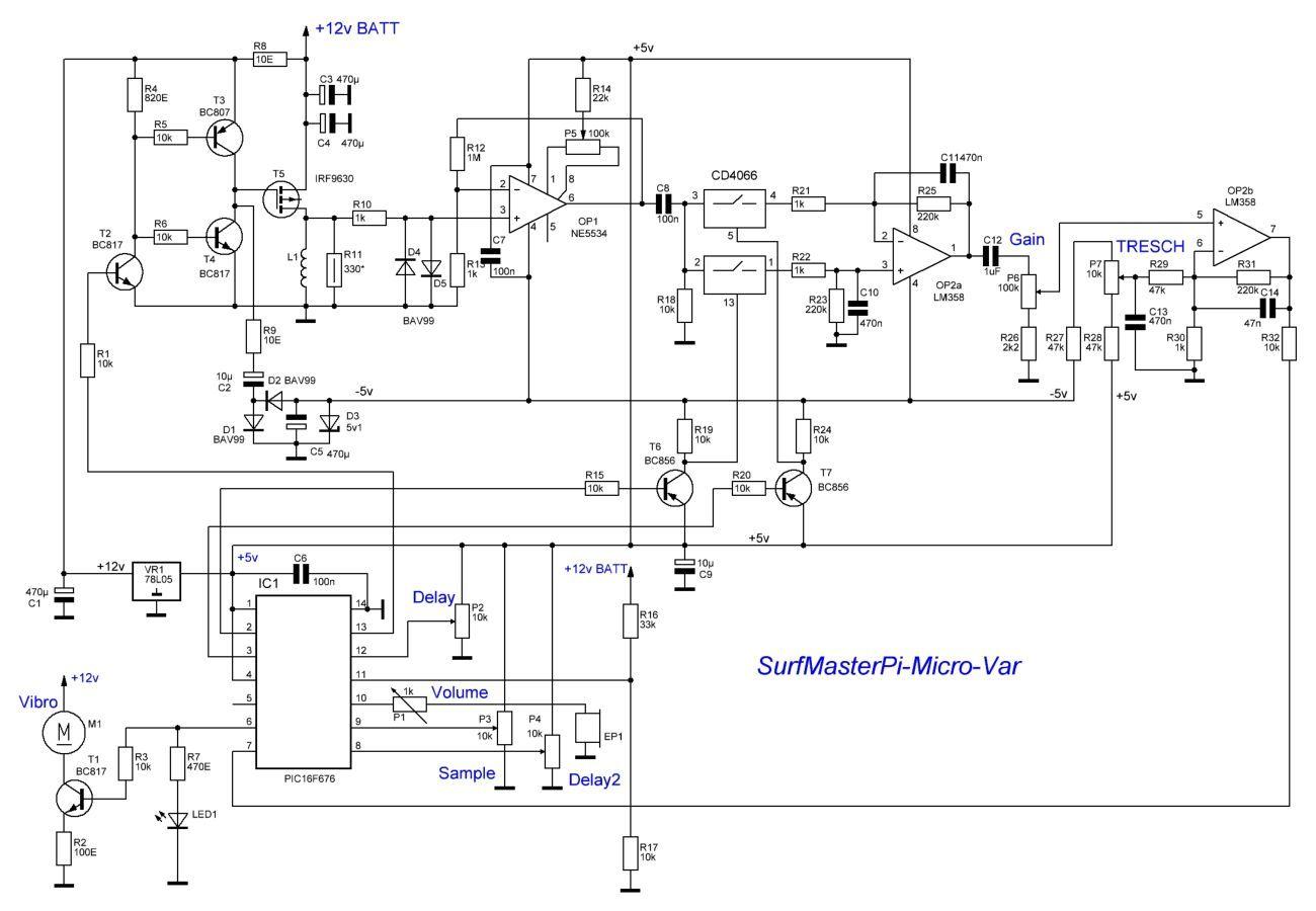 Схемы металлоискателя импульс