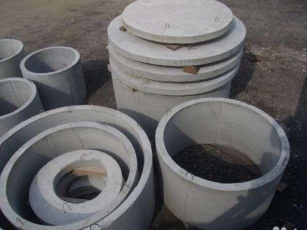 Бетонні кільця септикові кришки Доставка монтаж діаметр 1,1.2,1.5,2.0
