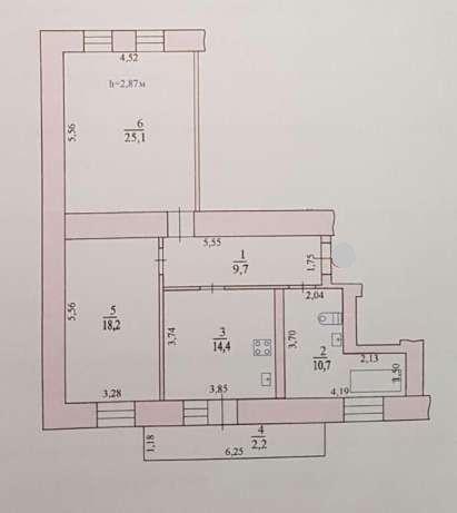 82 кв.м. в новом доме  Центре! 9132