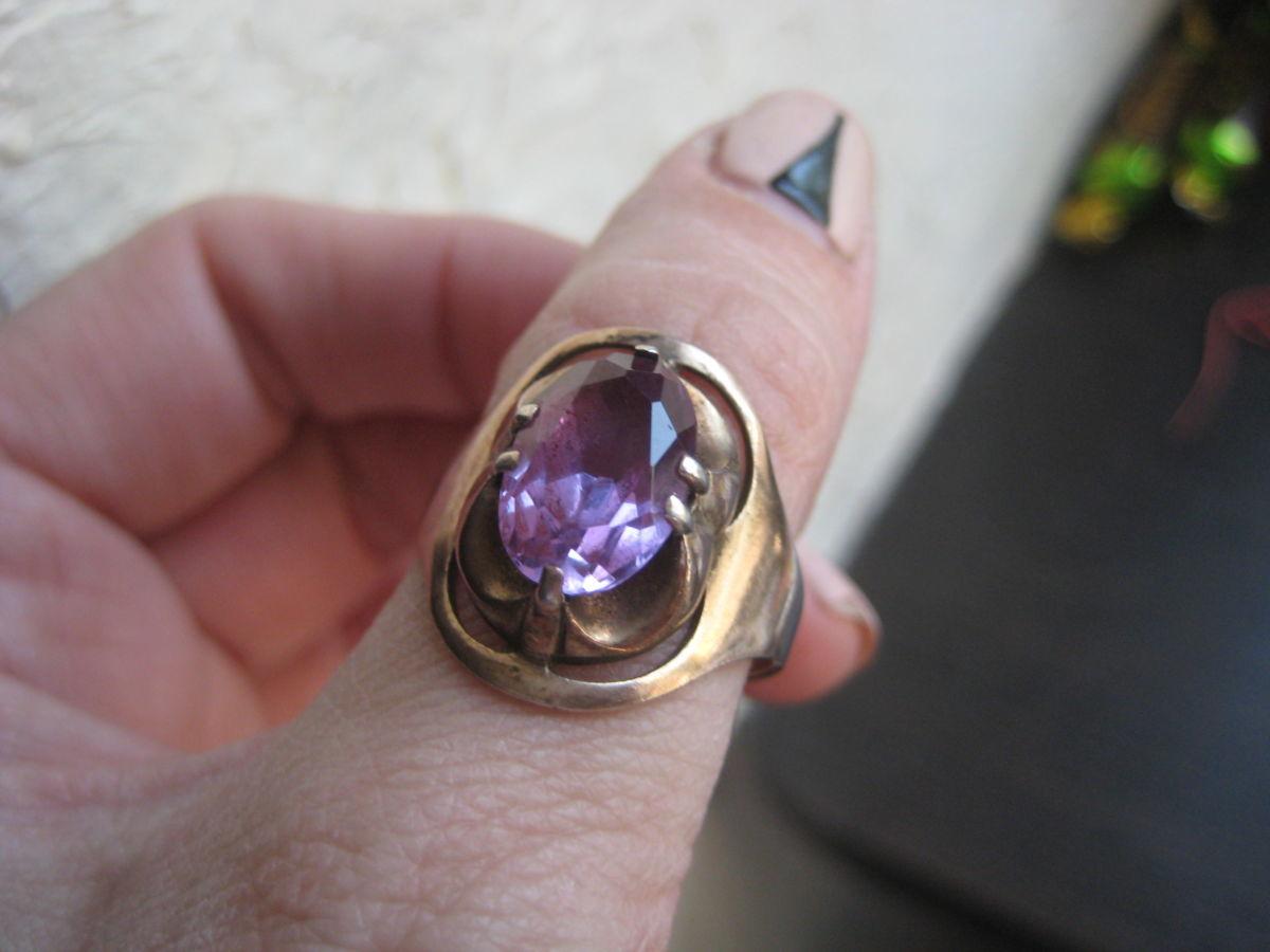 Фото - Крупный перстень с александритом ссср 875