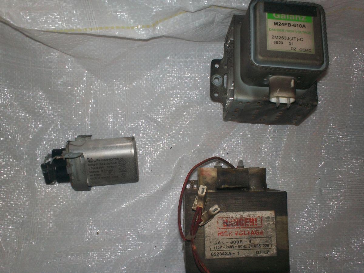 Магнетрон и конденсатор - с микроволновки