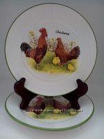 Тарелка Ферма, 21 см. набор 2 шт. - керамика