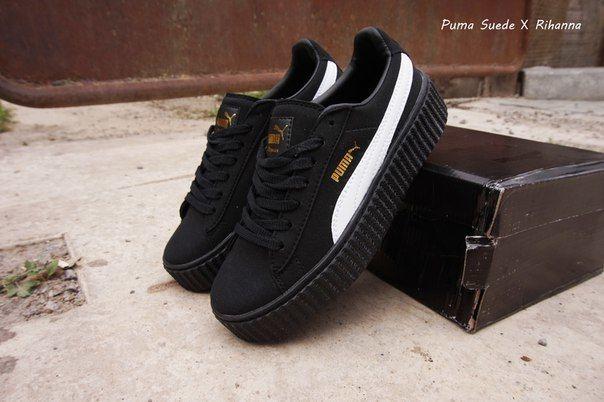 5df11cfa5a92 Puma x Rihanna Suede Женские кроссовки замшевые черные  980 грн ...