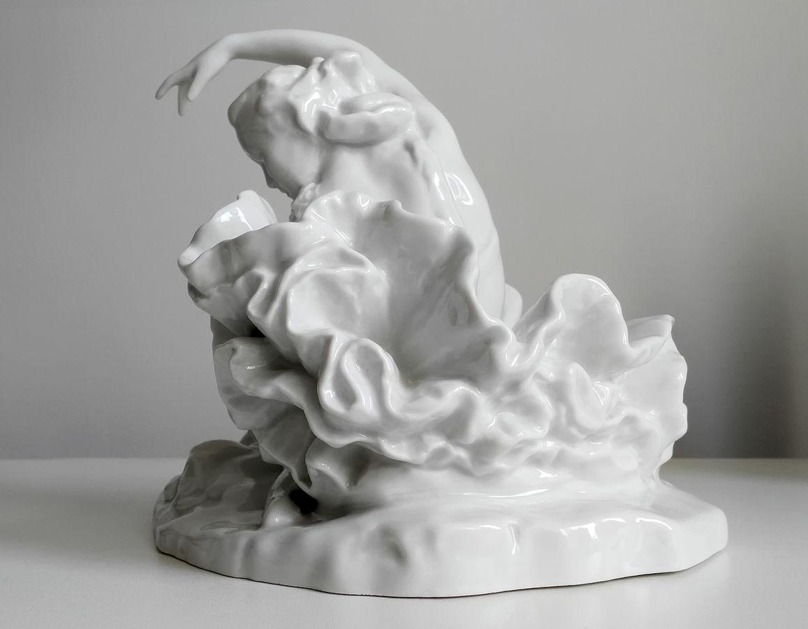 Ифз фарфоровая фигурка улановой умирающий лебедь