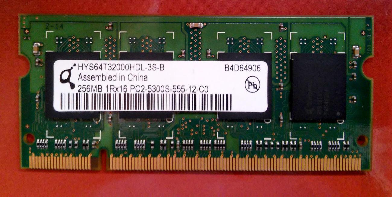 Фото - Память для ноутбука DDR2 256mb