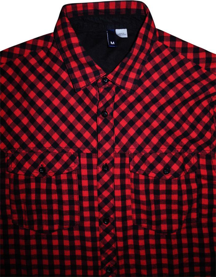 64faedd99af Мужская рубашка в клетку цветная красная черная яркая H M Divided M ...