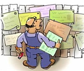 На постоянную работу требуется расклейщик листовок по городу