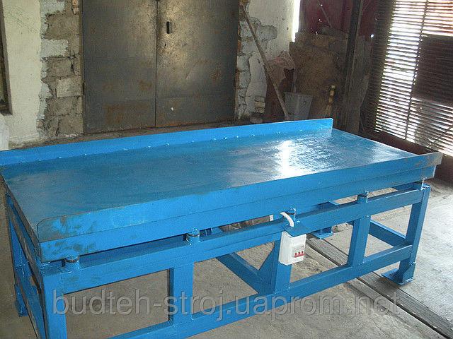 Фото 2 - Вибростол для производства евро-заборов, трот. плитки, памятников.
