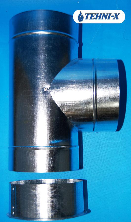 Фото 5 - Утепленный тройник из нержавейки толщиной 0,5 мм.