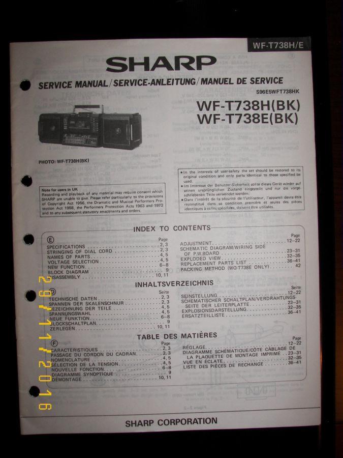 Фото 9 - Раритетная коллекц. магнитола Sharp WF-T738E(bk)  Япония 1986 г.в.
