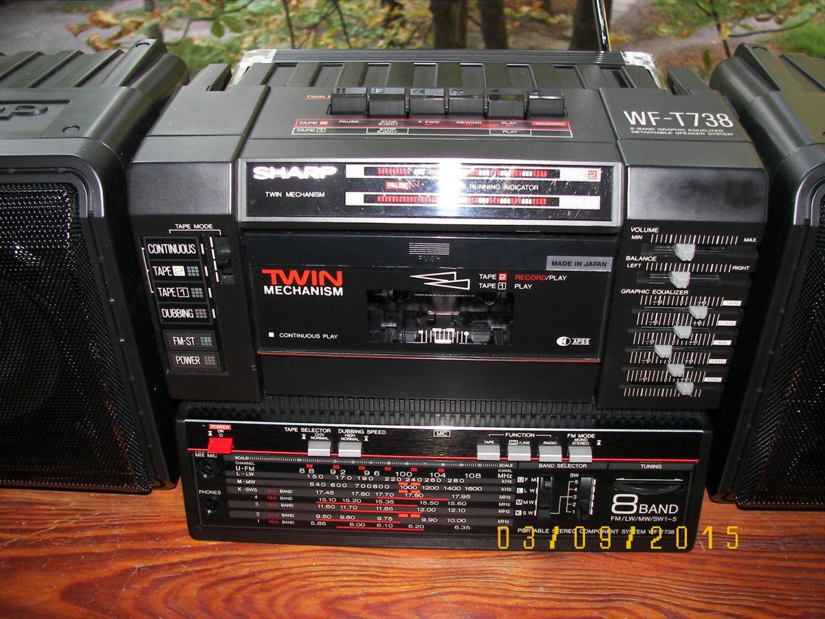 Фото - Раритетная коллекц. магнитола Sharp WF-T738E(bk)  Япония 1986 г.в.