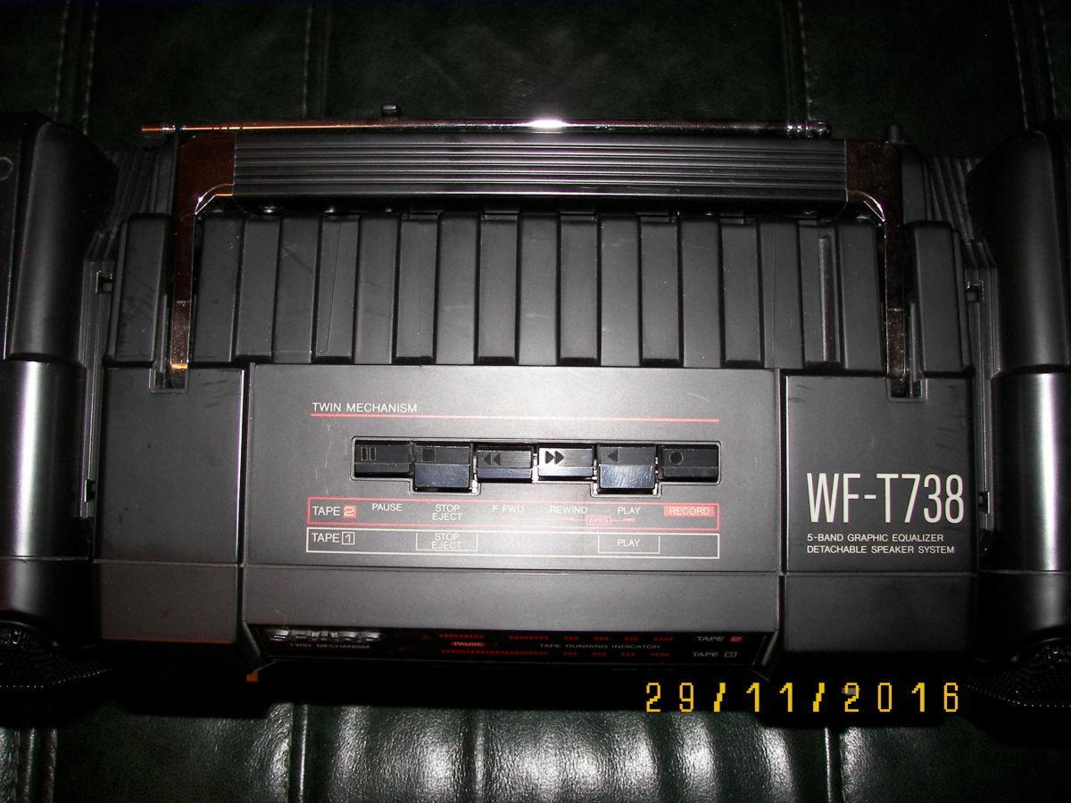 Фото 4 - Раритетная коллекц. магнитола Sharp WF-T738E(bk)  Япония 1986 г.в.