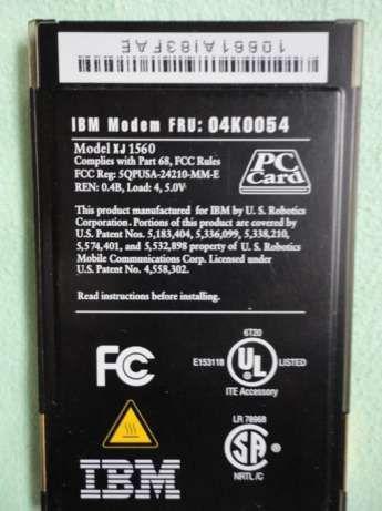 Фото 3 - PC CARD modem для