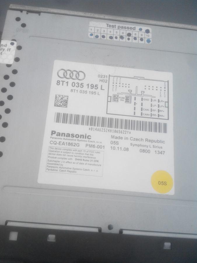 Фото 2 - магнитола mp3 player symphony ауди a4 b8, 8t1035195l Audi A4 B8