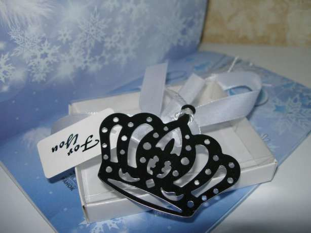 Фото - Закладка для книг Новогодняя Снежинка Корона Медвежонок Сердечко