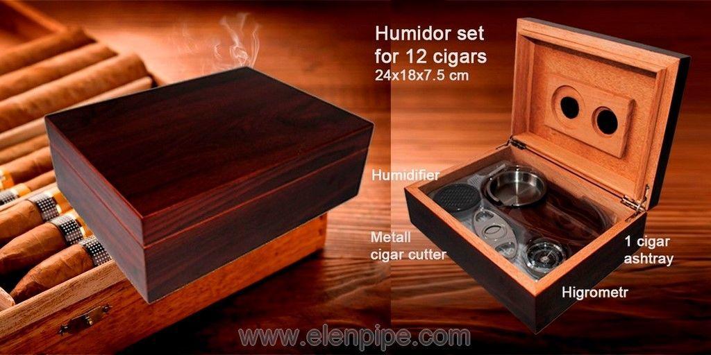Хьюмидоры подарочные с набором для сигар опт Elenpipe