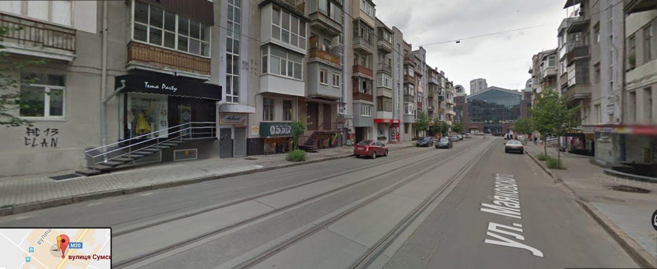 Аренда магазина на Сумской, 1эт, красная линия