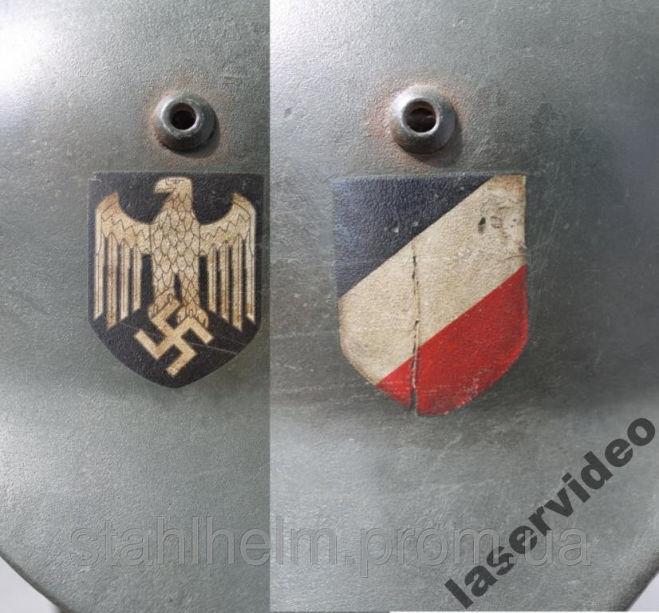 Декаль деколь каска шлем Вермахт 2