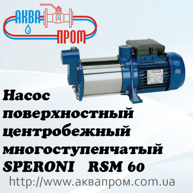 Насос поверхностный центробежный многоступенчатый SPERONI RSM 60