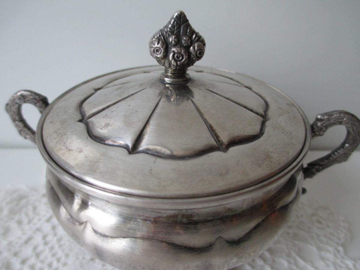 Сахарница Argento ARG.1000. Италия. п.Серебро. вес-137 гp. клеймо.
