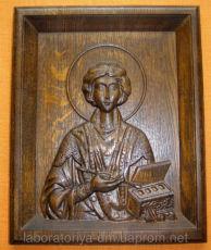 Деревянная икона - Пантелеймон Целитель