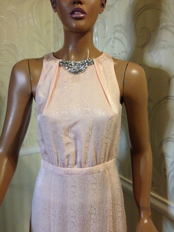 Платье в пол (шелк), mango, размер xs