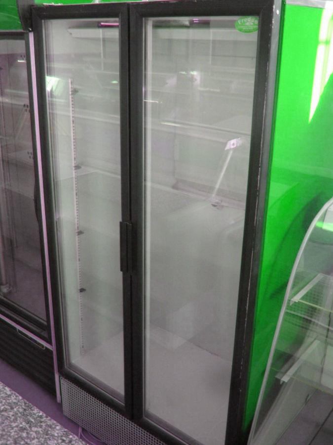 качественный стеклянный холодильный шкаф купе бу Frigorex 900 л 7