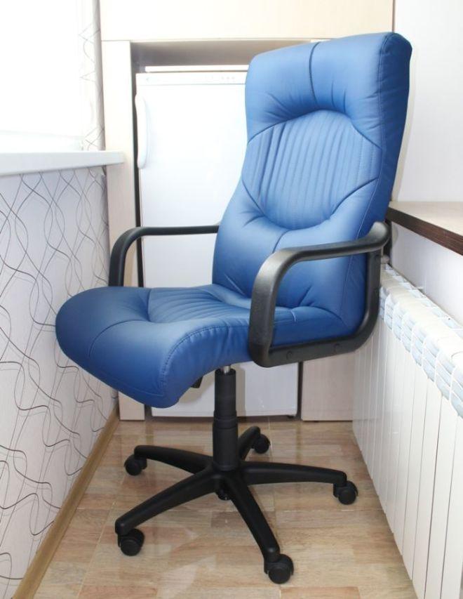 Кресло 077 Гермес GTP, кожзам синий