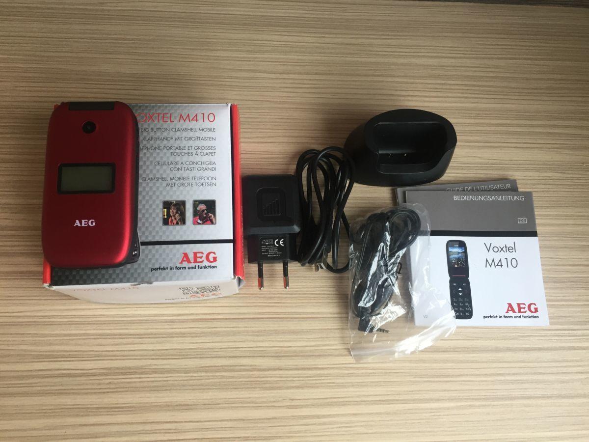 Бабушкафон мобильный телефон AEG VOXTEL M410 red (TR-1273)