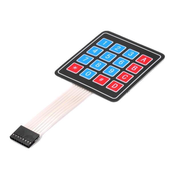 Клавиатура мембранная, 4х4 матрица, для телефонов контроллеров Arduino