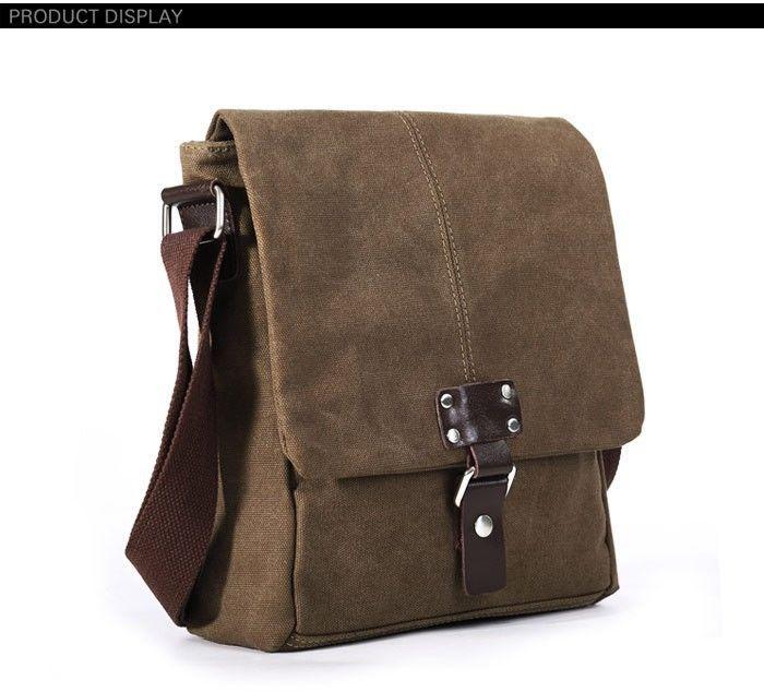 Фото - Модна чоловіча полотняна сумка