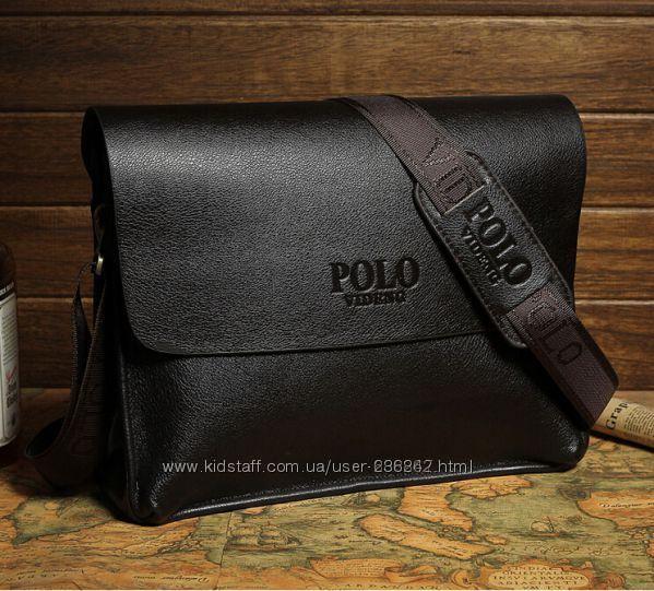 d573b9c28874 Стильная мужская сумка Polo горизонтальный формат. сумка через плечо.