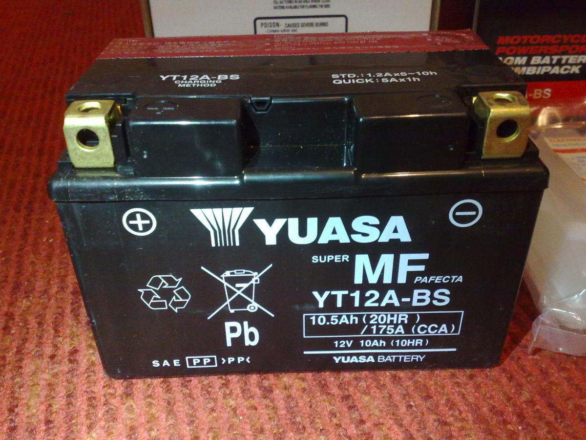 Мото Аккумулятор YUASA YT12A-BS (12V/10,5Ah/175A)